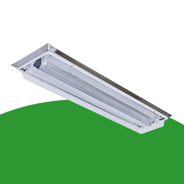 X11-2x36W斜边边吸顶式净化灯